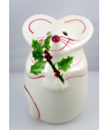 N S Gustin smiling Christmas mouse cheese shake... - $15.00