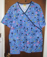 Scooby Doo Scrub Top Large Medical Dental Blue ... - $14.99