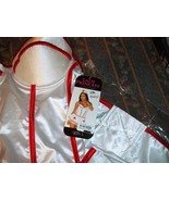 Lady Princess Sexy White Red Nurse Lingerie Costume L Large 12 14 NWT MSRP $60