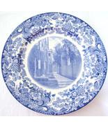 Vintage Wedgwood Plate MIT Dormitories Blue White - $58.00