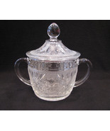 Anchor Hocking Sandwich Glass Sugar Bowl with Lid - $22.00