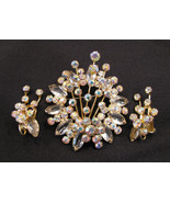 DeLizza and Elster Juliana Brooch and Earrings ... - $60.00