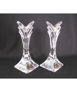 Mikasa Deco Crystal Candlesticks Holders Set of 2 - $28.00