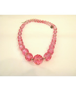Pink Crystal Necklace 17 Inches - $22.00