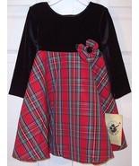 NWT Good Lad Girl's Red Plaid Christmas Holiday... - $14.99