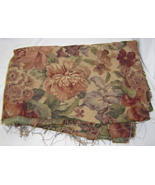 Creamy Dark Taupe Floral Upholstery Cotton Fabr... - $14.99