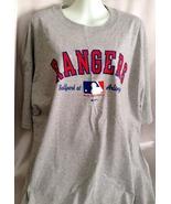 Sport Shirt Rangers Baseball Gray Shortsleeved ... - $21.99