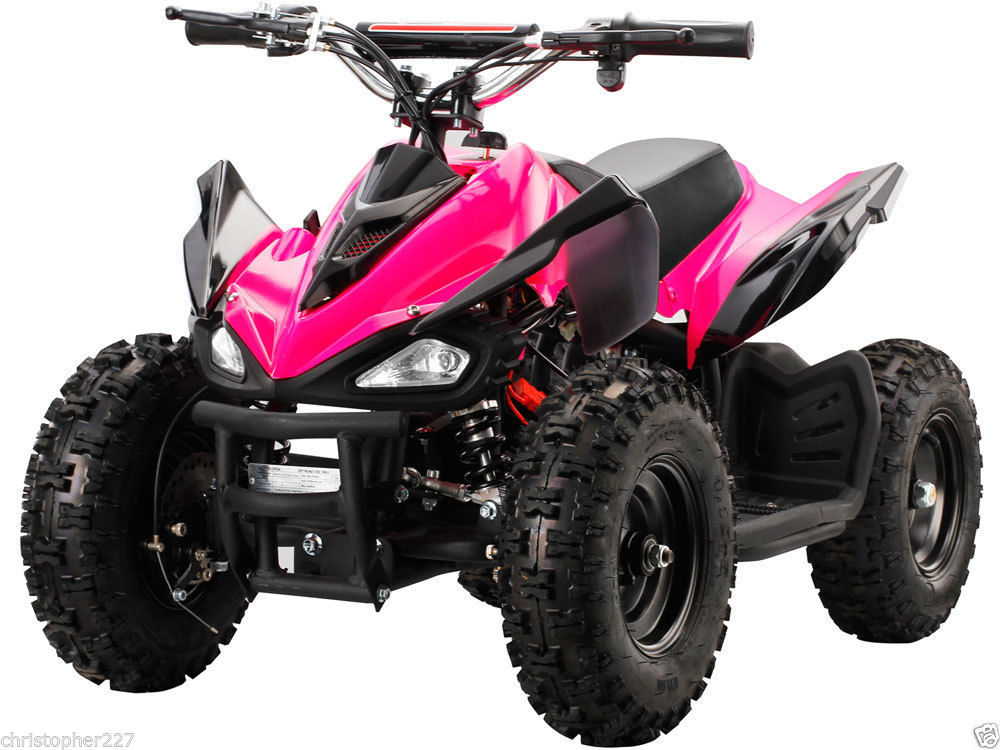 new outdoor girl mototec v2 blue mini quad atv dirt motor bike electric battery electric scooters. Black Bedroom Furniture Sets. Home Design Ideas