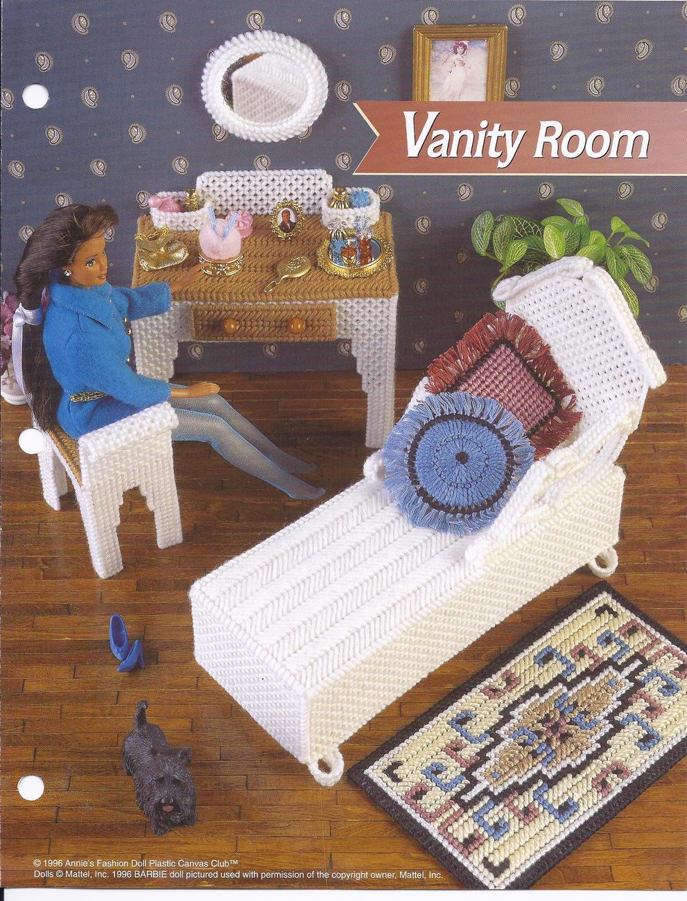Vanity Room Fashion Doll Plastic Canvas PatternAnnies  : plasticcanvas103 from bonanza.com size 991 x 1300 jpeg 311kB