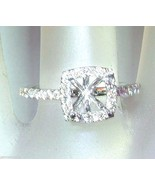 0.36ct Cushion Diamond Engagement Halo Ring Sem... - $958.88