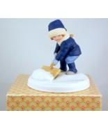 Vintage Avon A Winter Snow porcelain figurine J... - $20.00