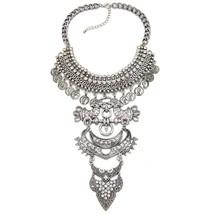 Vintage Exaggerated Metal Bib Collar Choker Sta... - $25.99