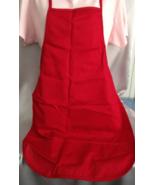 Red Bib Apron Crafting Cooking Sewing Craft Sho... - $6.50