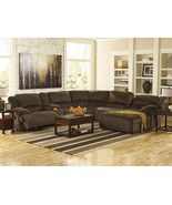 AVERY-6pcs BROWN MICROFIBER RECLINER SOFA COUCH... - $1,988.85