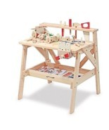 Wooden Workbench Baby and Child Table Bench Toy... - $106.02
