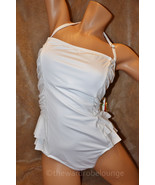 NEW 10 1PC JANTZEN Retro Peplum Shirred Bandeau... - $54.99