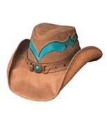 Bullhide Cascade Range Leather Cowgirl Hat Auss... - $85.00