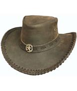 Bullhide Bushranger Leather Cowboy Hat  Aussie ... - $62.00