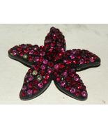 Vintage Brooch Star Five Points  Ruby Red Black... - $20.00