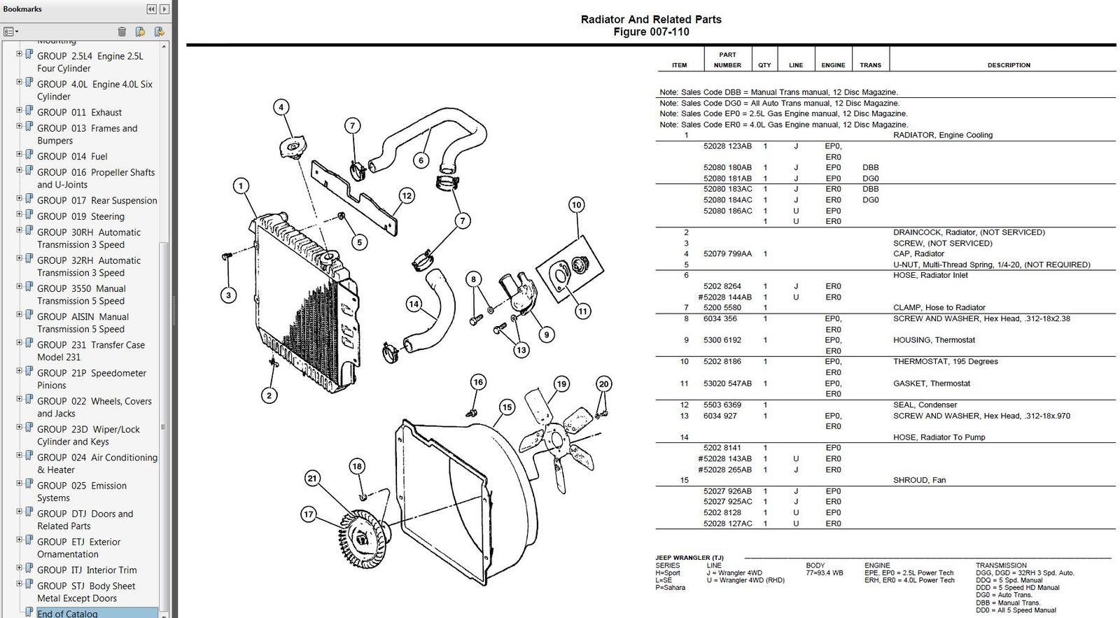 Parts Sample on Jeep Wrangler Oem Parts Diagram Grille