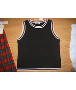 DUE PER DUE shell DRESS TOP XL Stretchy black S... - $9.99