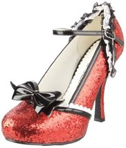 Ellie Shoes Women's 453-Lacey Pump,Red Glitter,... - $58.00