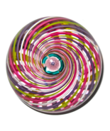 John Deacons Studio Glass Paperweight Swirl wit... - $275.00