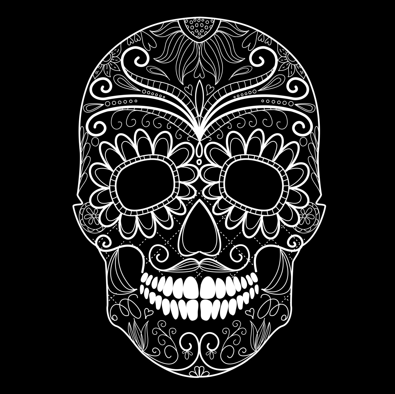 Vintage owl lamps - Day Of The Dead Black And White Skull And Grungy Skull