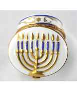 Limoges Box - Gold Menorah - Judaica - Rochard ... - $92.00