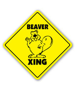 BEAVER CROSSING Sign beavers xing dam wild anim... - $8.44