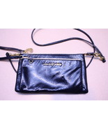 Coach Poppy Navy Indigo Patent Leather Double Z... - $55.00