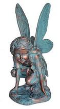 Butterfly Fairy Large Statue Bronze Patina, 20