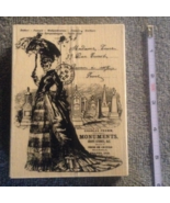Wood-mount Victorian Skull Lady Postcard Craft ... - $12.99
