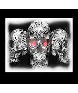Glowing Trio....Skull Digital Art - $10.00
