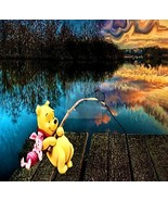 Gone Fishing Winnie the Pooh.. Digital Art - $10.00