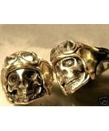 WWII AXIS Aviator Skull Ring......Sterling Silver - $69.00