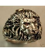Large African Lionhead,Men's ring,Lge.....sterl... - $106.00