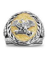 Roman Eagle SPQR signet ring Sterling Silver Lge - $93.00