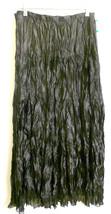 Dressy Shinny Crinkled Black Maxi Skirt w. Shee... - $26.18