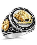 10 Karat Gold American Buffalo Mens silver Coin... - $299.00