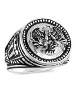 American Eagle,Men's Coin ring,,,,Sterling Silv... - $91.00