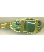Jade  Gold Wire Wrap Bracelet 5 - $23.65