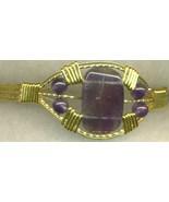 Amethyst  Gold Wire Wrap Bracelet 6 - $37.98