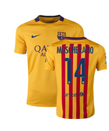 Mascherano # 14 Barcelona Away Soccer Jersey 15/16 - $38.99