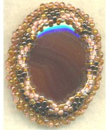 Agate Beaded Victorian Style Brooch - $5.53