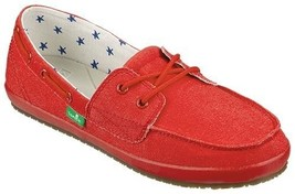 Sanuk SAILAWAY 2 Womens Lace up Canvas Boat Sho... - $42.00