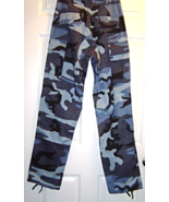 Size XS Regular Kids Blue Camo B.D.U.Pants New... - $24.99