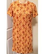 Vintage Sequin Lace Orange Evening Dress By Har... - $29.69