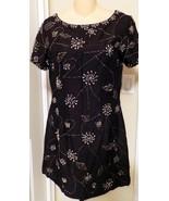 Vintage Sequin Black Evening Dress Creations Ha... - $22.77