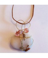 Greek Island rock wire wrapped with glass beads... - $12.86